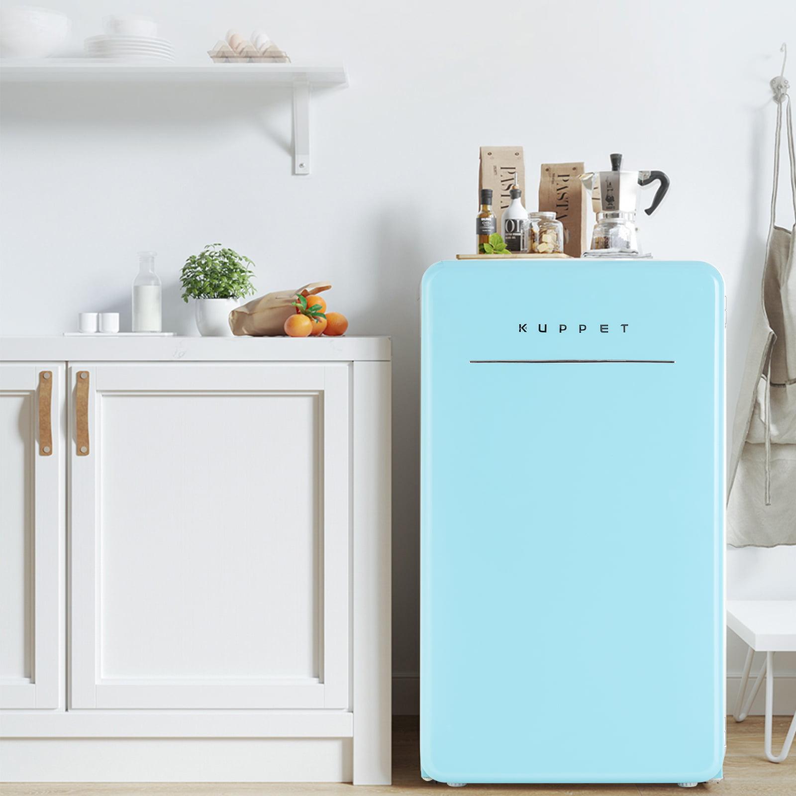 Kuppet Retro Mini Fridge Compact Refrigerator With Covered Chiller Compartment For Dorm Garage Camper Basement Or Office Adjustable Removable Glass Shelves 3 2 Cu Ft Walmart Com Walmart Com