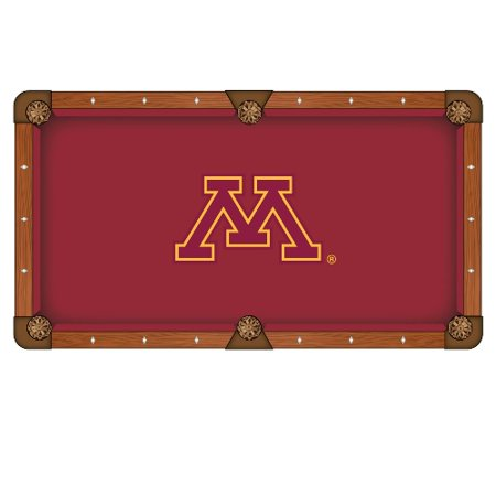 Minnesota Pool Table Cloth 9' w/ Golden Gophers Logo by Hainsworth