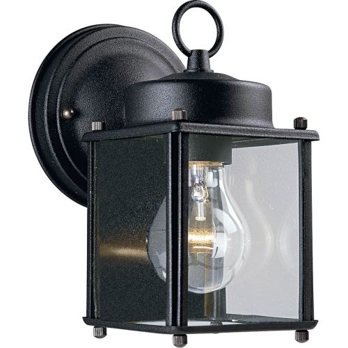 Progress Lighting P5607 Signature 1 Light Outdoor Wall Sconce with Flat Glass Sh