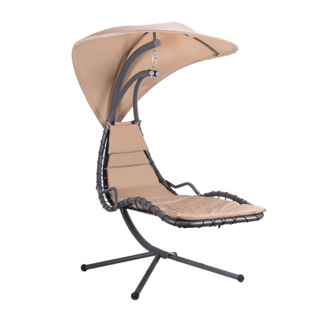 Hammock Swing Lounge Chair With Umbrella Stand For Patio