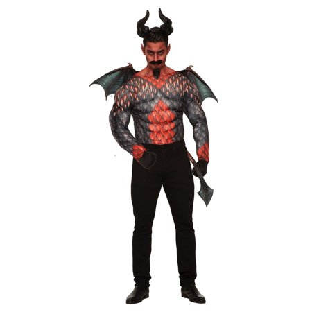 Mens Demon Muscle Shirt Halloween Costume](Diy Demon Costume)