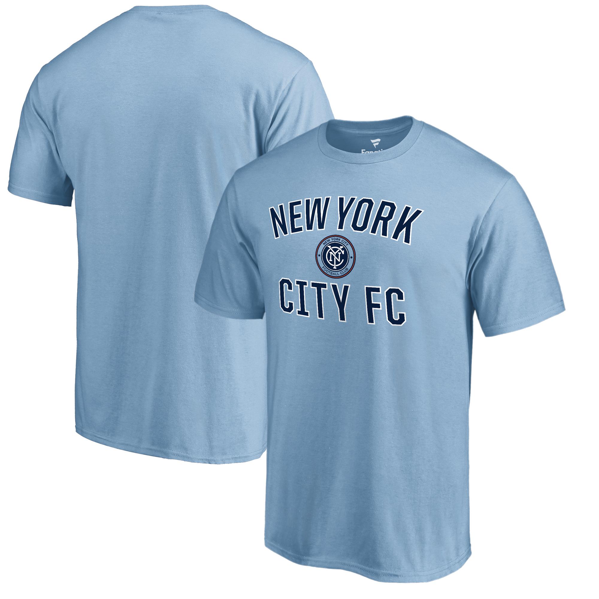 New York City FC Fanatics Branded Victory Arch Logo T-Shirt - Light Blue