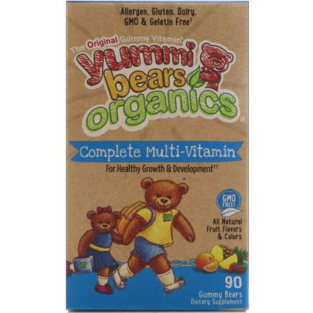Hero Nutritional Products, Yummi Bears Organics, Complete Multi-Vitamin, Organic Fruit Flavors, 90 Gummy Bears(pack of 1)