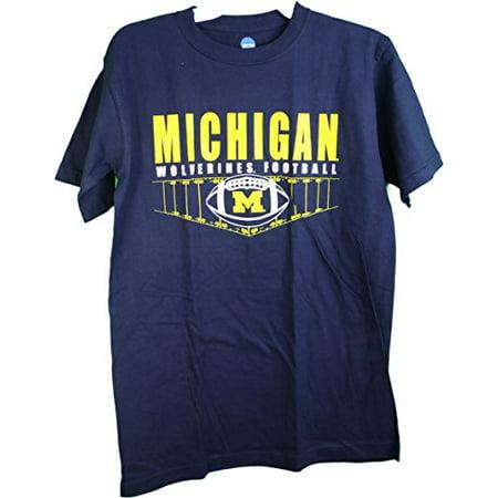 "NCAA Knights Apparel Michigan Wolverines ""Football Field"" Adult Tee Shirt Small"