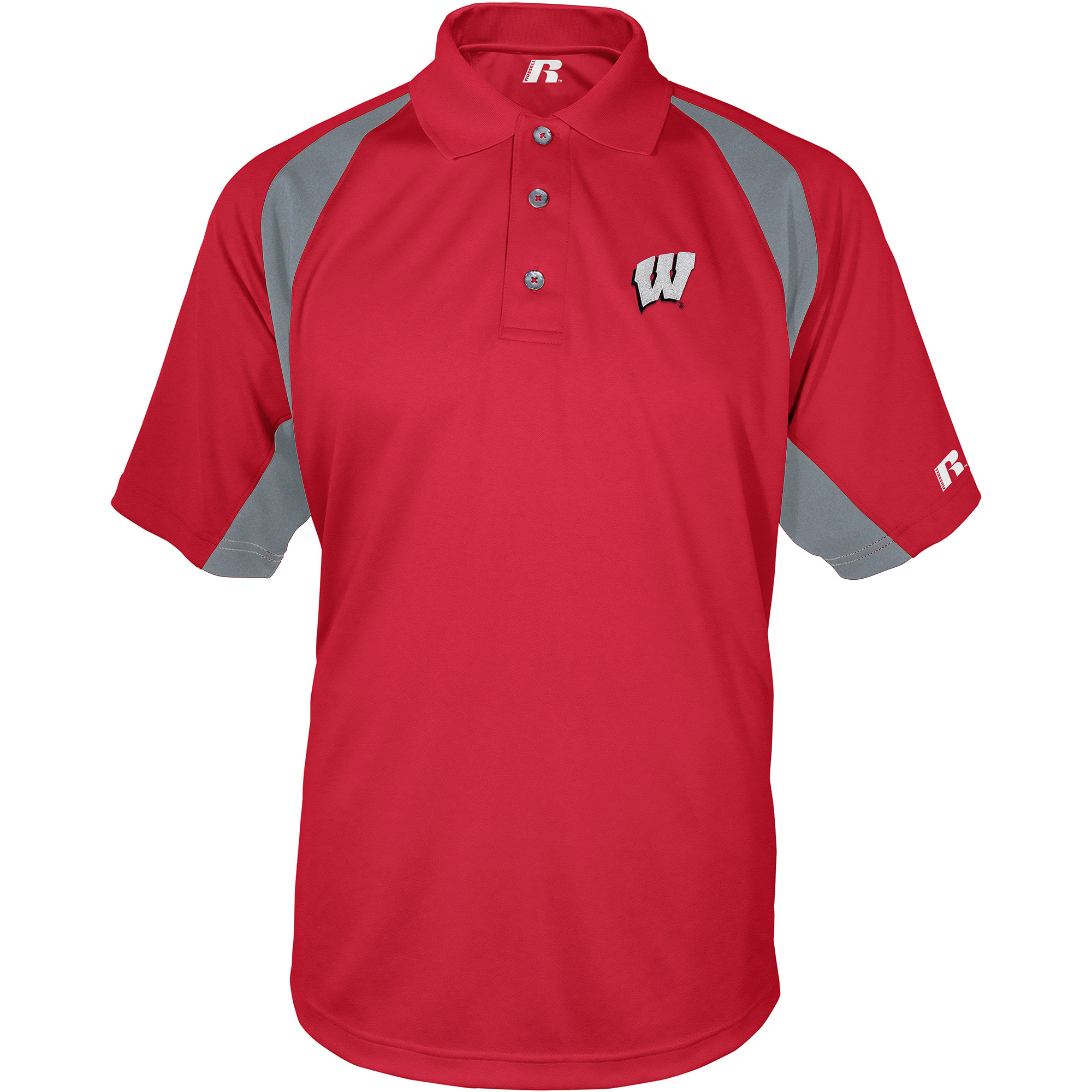 Russell NCAA Wisconsin Badgers, Men's Synthetic Polo