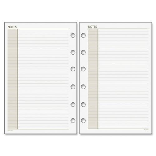 "018-200 Day Runner Planner Notes Refill Pages - 8.50"" x 11"" - White"