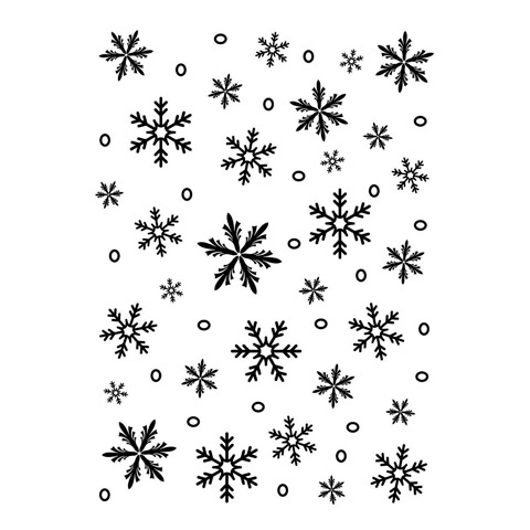 Embossing Folder Snowflake Background 5X7 By Darice
