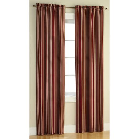 Mainstays Poly Duck Stripe Curtain Panel Set Of Walmart Com
