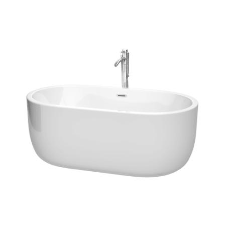 Juliette 60-inch Freestanding Bathtub in White