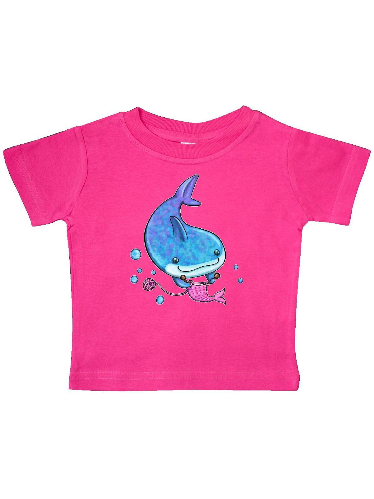 inktastic Cute Little Shark Wearing Diaper Baby T-Shirt