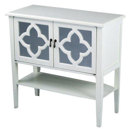 Heather Ann Creations Frasera Quatrefoil Mirror Console Cabinet ()