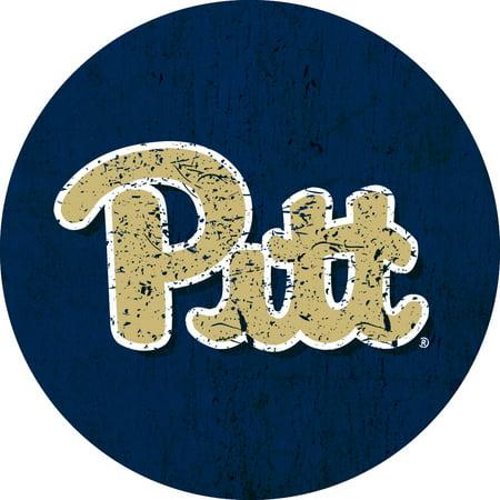 Pittsburgh Panthers NCAA Collegiate Distressed Wood Grain Trendy 4
