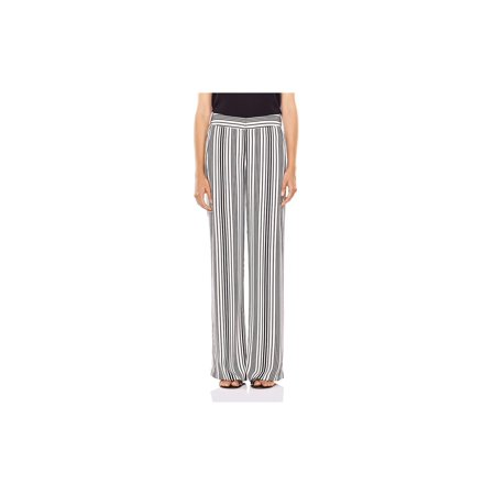 Halston Womens Striped Wide-Leg Dress Pants