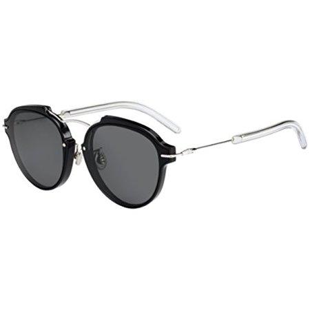 e54e58b767a88 Dior - Christian Dior Eclat S Sunglasses Black Palladium   Gray -  Walmart.com