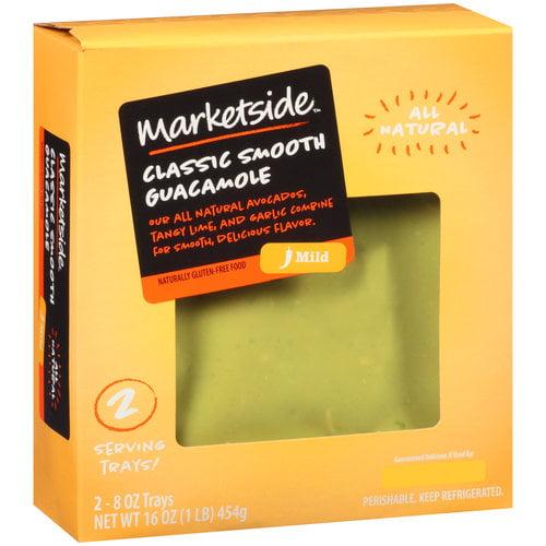 Marketside Classic Smooth Guacamole, 8 oz, 2 count