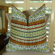 Thomas Collection Multi Color Tribal Throw Pillow For Sofa - 11062