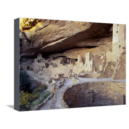 Old Cliff Dwellings and Cliff Palace in the Mesa Verde National Park, Colorado, USA Stretched Canvas Print Wall Art By Gavin