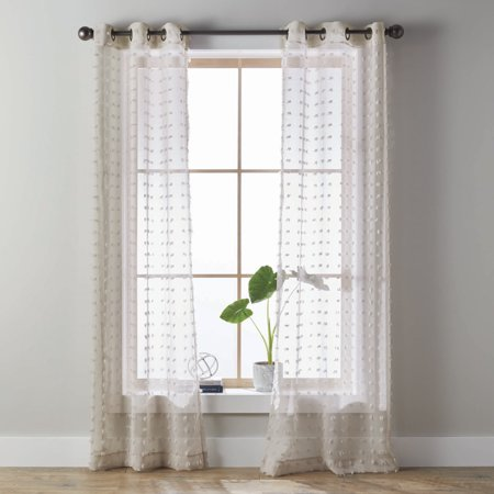 Clamps Fabric Panel Clip (Better Homes & Gardens Clipped Pom Pom Window Curtain Panel, Set of)