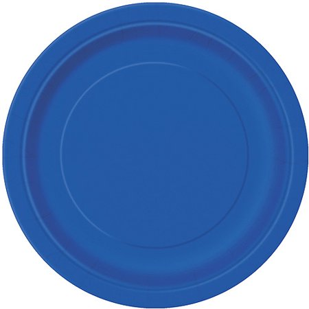 Paper Plates, 9 in, Royal Blue, 16ct
