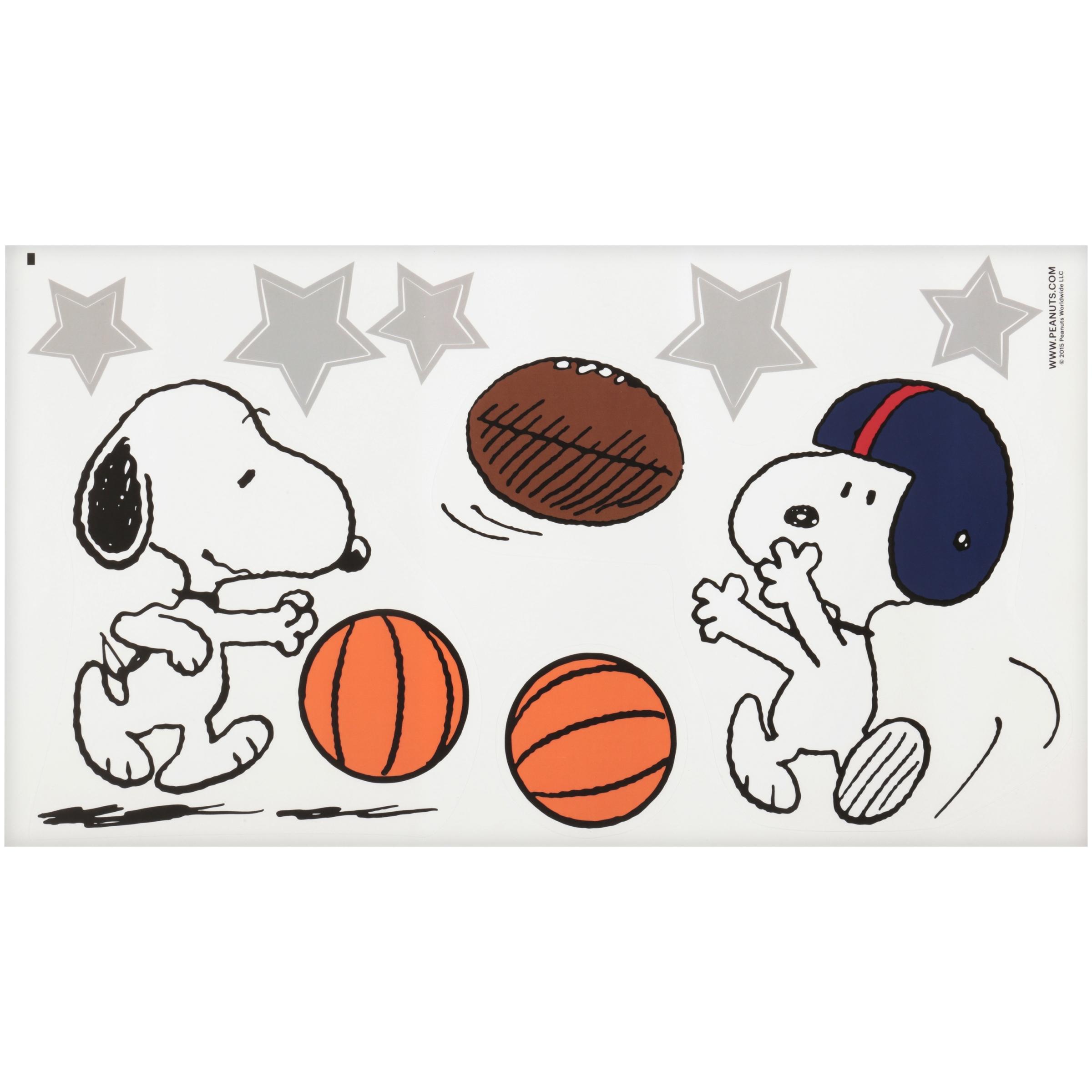 Bedtime Originals™ Peanuts® Snoopy Sports Wall Appliqués 3 ct Pack