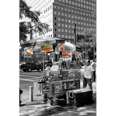 Safari CityPop Collection - NYC Hot Dog with Zebra Man Print Wall Art By Philippe Hugonnard - Halloween Dog Show Nyc