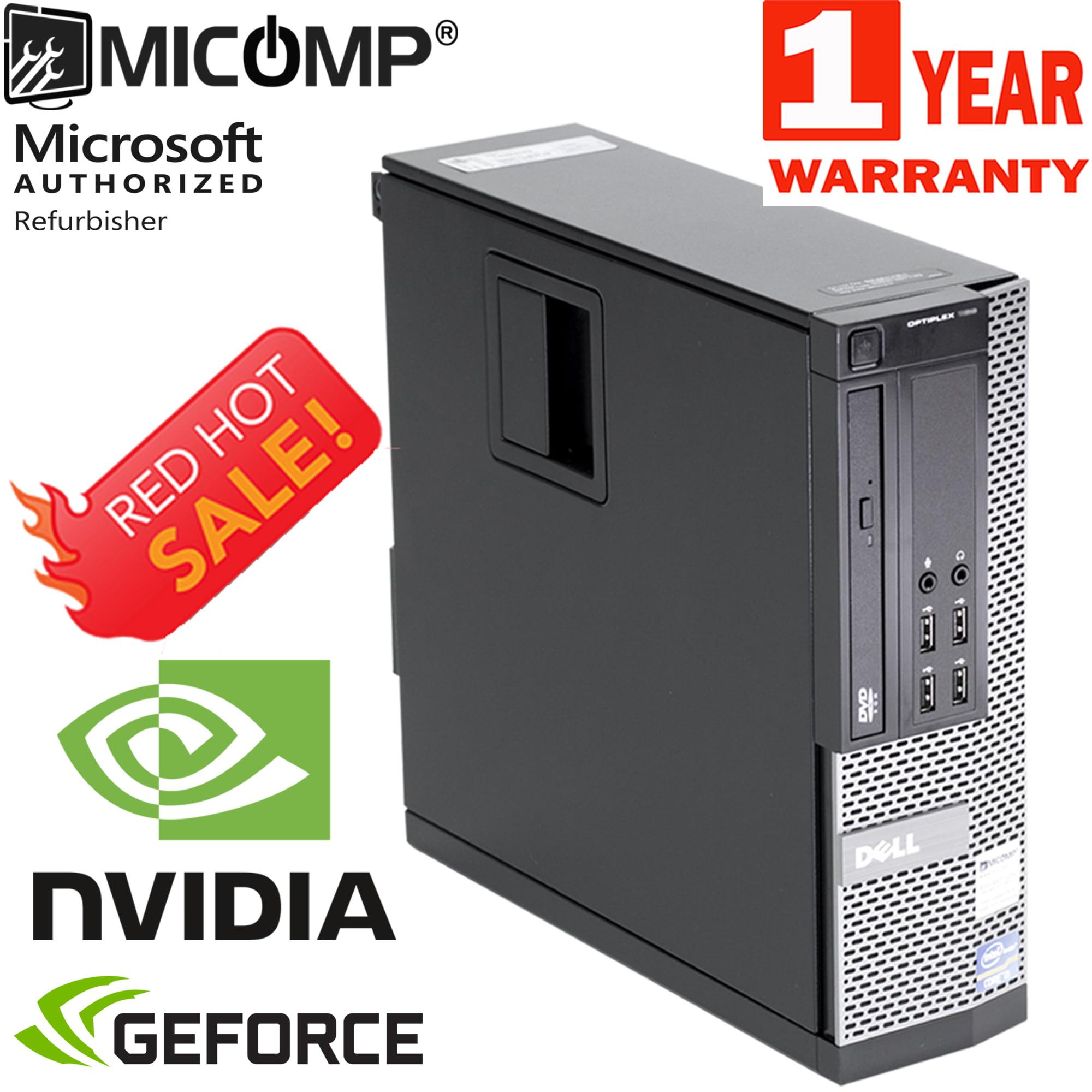 Refurbished Dell Gaming Computer Nvidia GT 1030 HDMI WiFi Quad i5 3.1GHz 8GB 500GB Windows 10