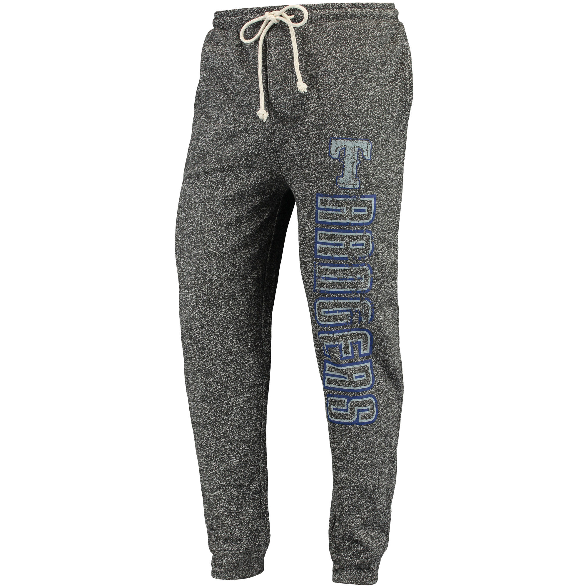 Texas Rangers Concepts Sport Pinpoint French Terry Cuffed Pant - Charcoal