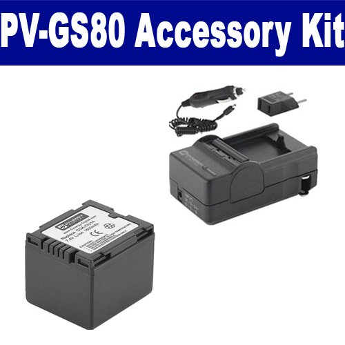 Panasonic PV-GS80 Camcorder Accessory Kit includes: SDCGADU14 Battery, SDM-130 Charger