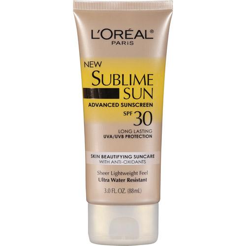 L'Oreal Paris Sublime Sun Advanced Sunscreen Lotion SPF 30, 3 oz
