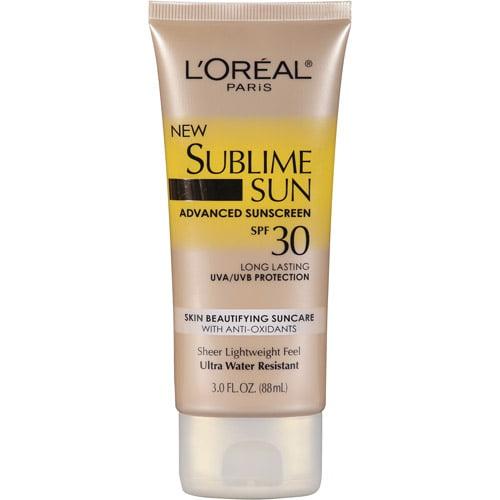 L'Oreal Paris Sublime Sun - Body Lotion Spf 30, 3 Oz