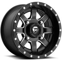 "Fuel D538 Maverick UTV 14x7 4x110 +13mm Black/Milled Wheel Rim 14"" Inch"