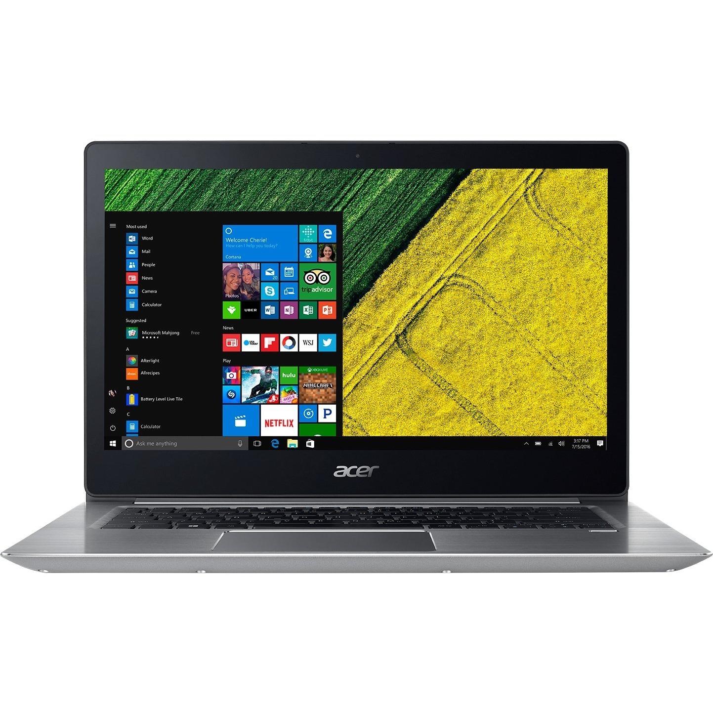 "Acer Swift 3 SF314-52 SF314-52-517Z 14"" Core i5-8250U 8GB DDR4 256GB SSD - Windows 10 Home 1920 x 1080 IPS sparkly Silver Ultrabook"