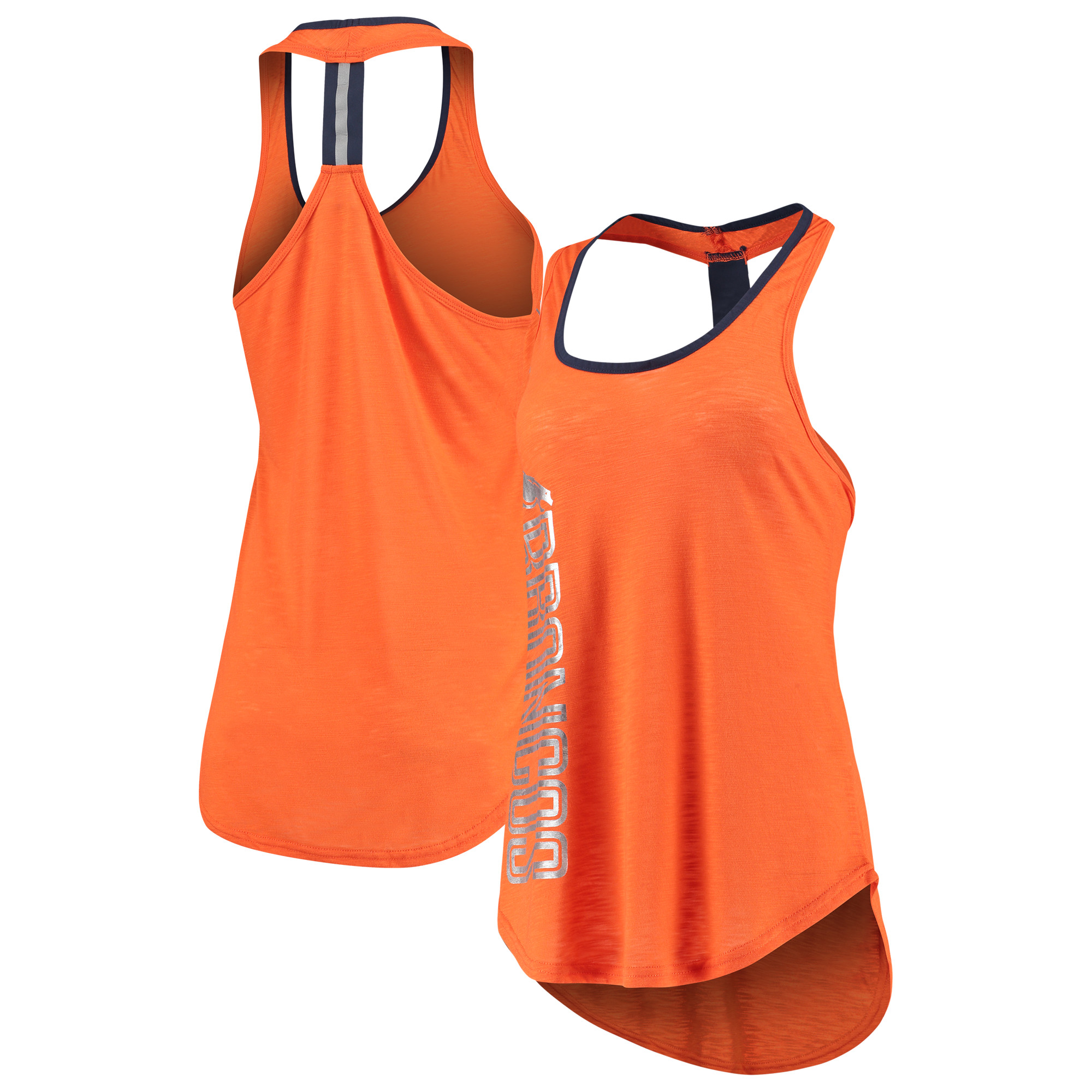 Denver Broncos G-III 4Her by Carl Banks Women's Wildcat Racerback Tank Top - Orange
