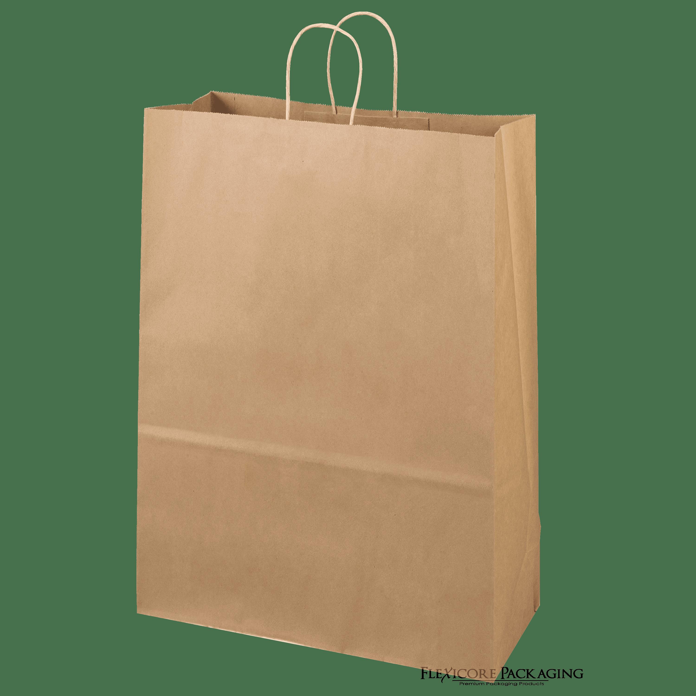 """Brown Kraft Paper Bags, 13""""x7""""x17"""", 50ct"""