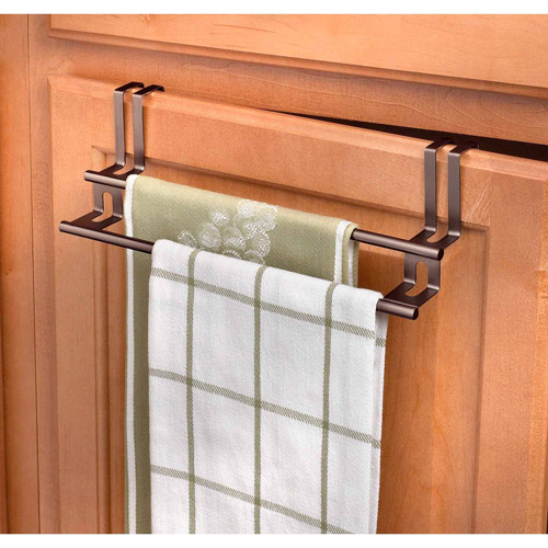 Spectrum Over the Drawer Cabinet Double Towel Bar, Bronze by Spectrum