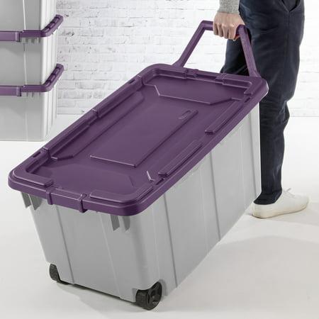 Sterilite, 40 Gal./151 L Wheeled Industrial Tote, Moda Purple