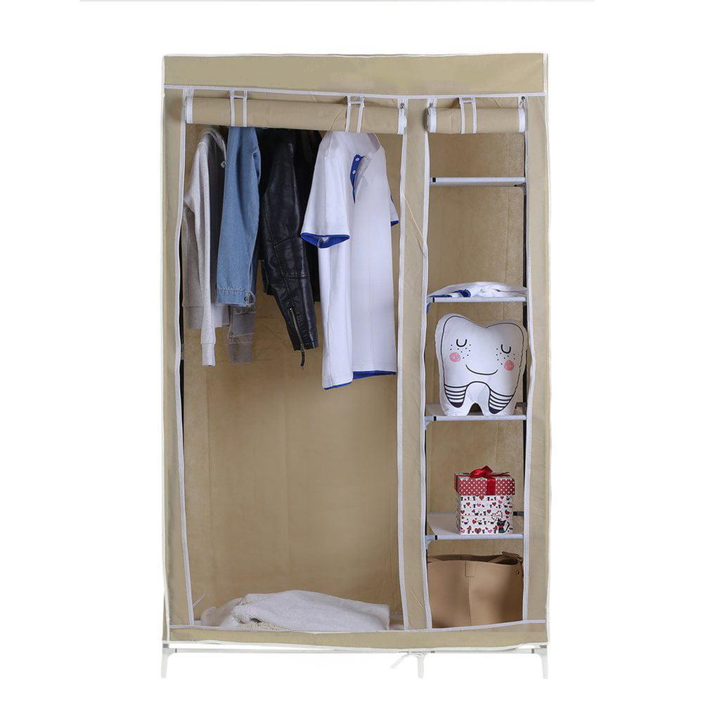 69 Inch Portable Closet Wardrobe Clothes Rack Storage Organizer With Shelf Storage