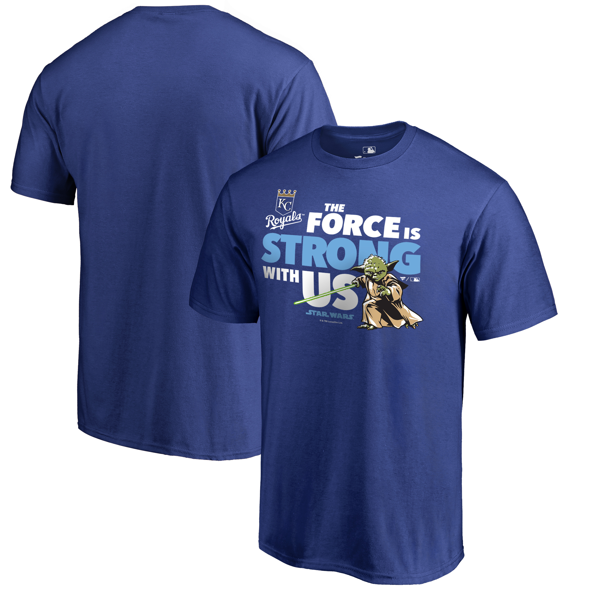 Kansas City Royals Fanatics Branded Star Wars Jedi Strong T-Shirt - Royal Blue