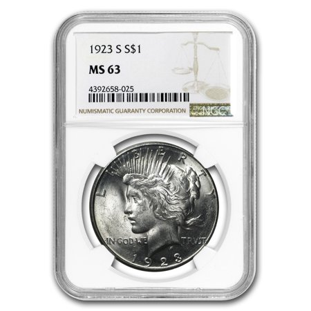 1923-S Peace Dollar MS-63 NGC