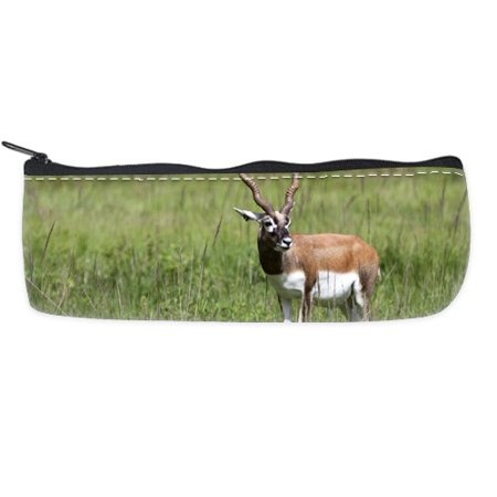 POPCreation Antelope wild animal School Pencil Case Pencil Bag Zipper Organizer Bag
