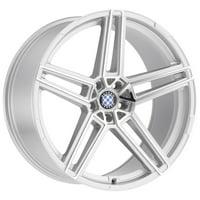 Beyern Gerade 20x9 5x120 +15mm Silver/Mirror Wheel Rim