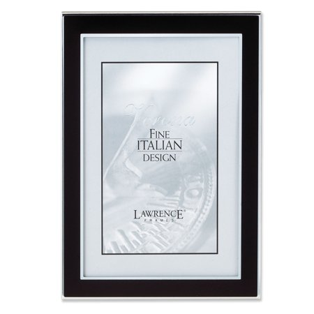 Silver and Black 4x6 Metal Picture Frame