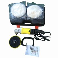 1400W 110V Car Cleaning Electric 6 Variable Speed Car Polisher Buffer Waxer US Plug Black & Yellow