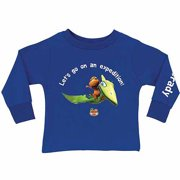 Personalized Dinosaur Train Expedition Toddler Boy Royal Blue Long Sleeve T-Shirt