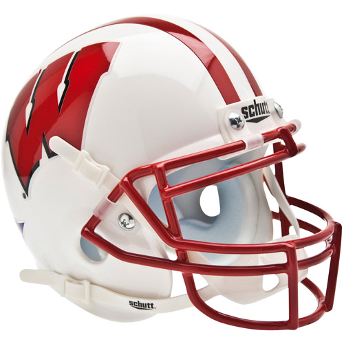 Shutt Sports NCAA Mini Helmet, Wisconsin Badgers