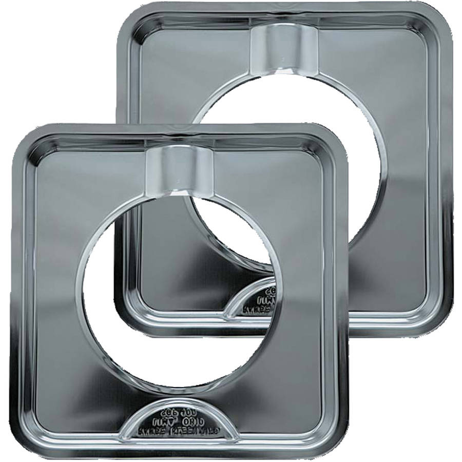 Range Kleen Drip Pans, Style I, Chrome, Set of 2