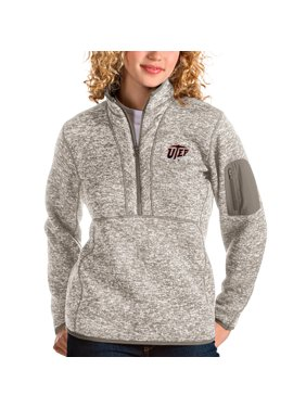 UTEP Miners Antigua Women's Fortune Half-Zip Pullover Sweater - Oatmeal