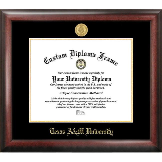 Texas A&M University Gold Embossed Diploma Frame