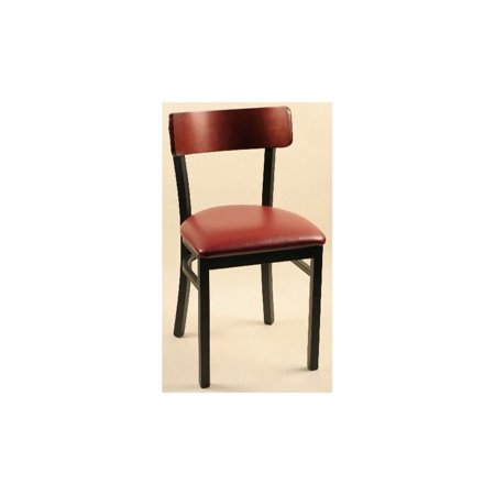 Image of Aluminum Frame Chairs with Mahogany Backs - Set of 2