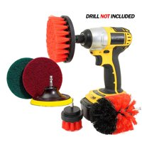6Pcs/Set Power Scrubber Drill Brush Attachment Kit for Cleaning Shower, Tub, Tile, Floor